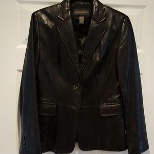 Vintage Banana Republic black leather blazer